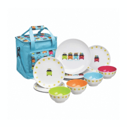 Camper Smiles Cool Bag and 12 piece dinning set
