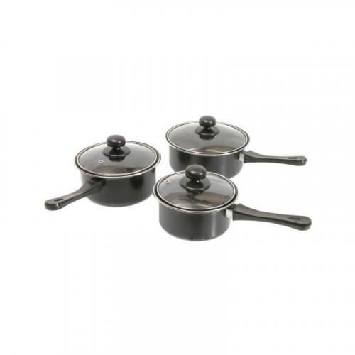 Quest Leisure Products - 3 Piece Non-Stick Saucepan Set