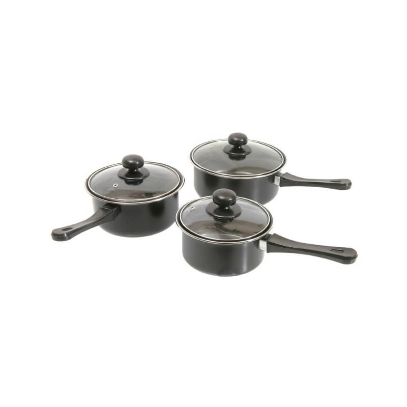 Quest Leisure Products - 3 Piece Non-Stick Saucepan Set