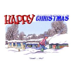Caravan Christmas Card