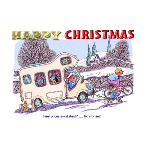 Motorhome Christmas Card